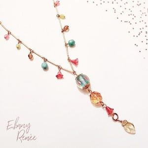 Cookie Lee | Gold-like Jewel Necklace -14in. Long